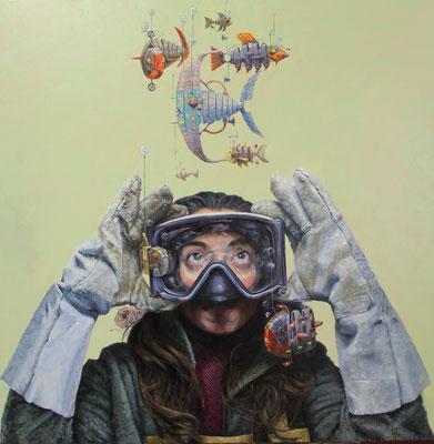 Manuel Luna Rodríguez - Adaptación - Óleo sobre tela - 81x81