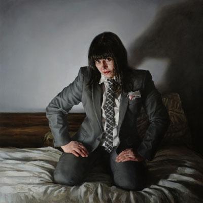 Alessandro Tomassetti - Boudoir: Portrait of Tania Atanasova - Óleo sobre tela - 70x70