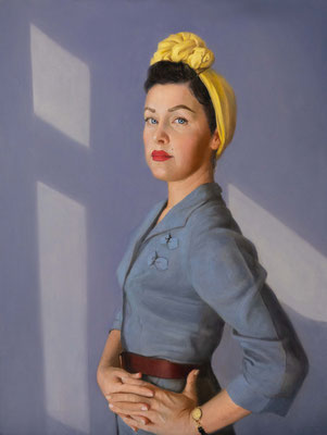 Natelie Holland - Milana. The queen of vintage - Oil on aluminum panel - 60x45