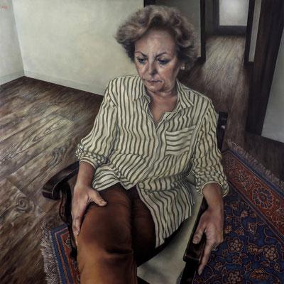 ADRIÁN GOMA - MADRE - OLEO SOBRE TABLA - 100x100