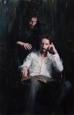 Florian Boschitsch - Faust -Oil on board - 95x61