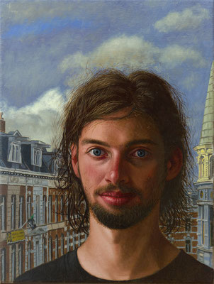 Wim Heldens - Squatter Jesus - Oil on Canvas - 40x30