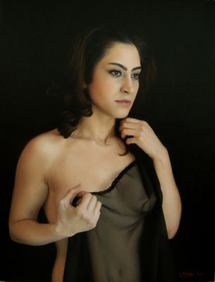 Neda Sajadi Dare - Oil on Canvas - 19,8x25,5 inches