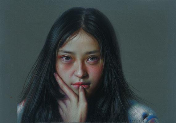 XueQin Li - Pink makeup - Pastel - 45x35