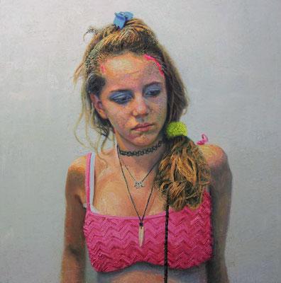 Alejandro Carpintero - Princesa de Barrio nº 6 - Óleo sobre lienzo - 100x100