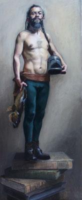 Sofia Zuluaga  (España) - Disparapez de un Hidalgo - Óleo sobre lienzo - 150x70