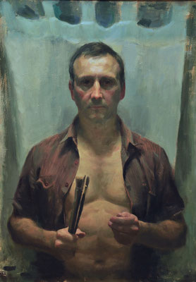 Aldo Balding - Bared and Brushed - Oil on canvas - 91x66