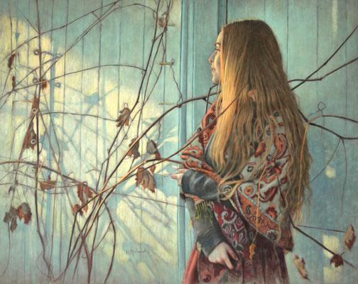 Danielle Richard (Canada) - Soleils Verts - Pastel sobre papel - 76x96