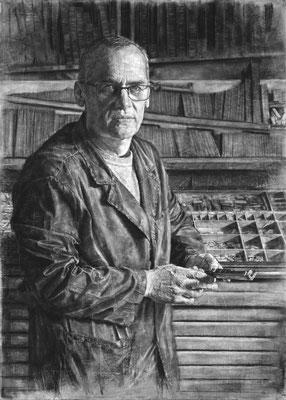 Jorge Alba Arias - Graficas Venque s.c.p. - Carbón y pastel en papel vegetal encolado en tabla - 85x120