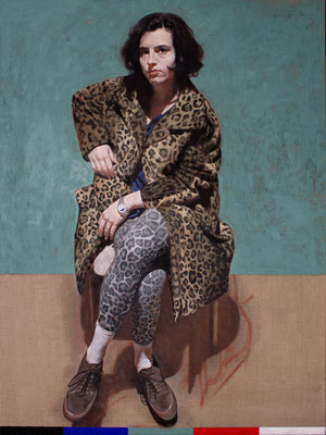 Silvia Flechoso - 5º Mandamiento - Óleo sobre lienzo - 130x100