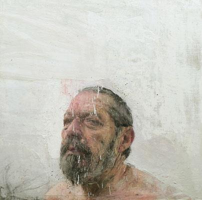 Felipe Alonso - Años falsos. Retrato de mi padre - Óleo sobre lino - 46x46