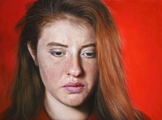 Arina Gordienko - Long walk alone in the tender flame - Oil on belgian linen - 76x102