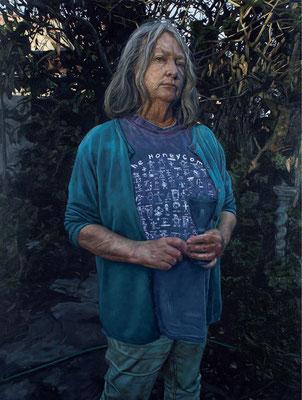 Alexander Nnox - My mother - Oil on panel - 100x75