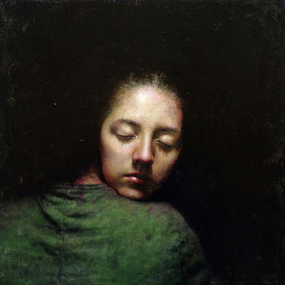 Marcos Rey - El abrazo - Óleo sobre lienzo - 50x50