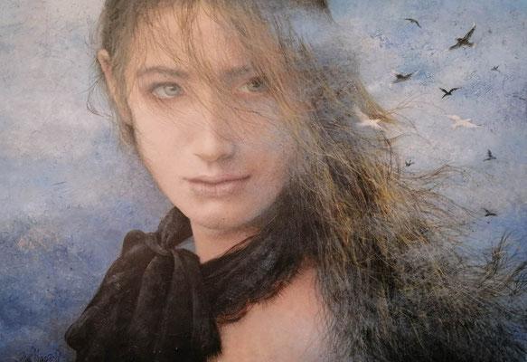 Ana María Muñoz Reyes - ENIGMA - Acrílico sobre tabla - 70x100