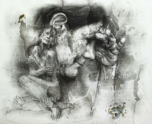 Carlos Asensio Sanagustín - La tercera edad - Mixta sobre papel - 60x73