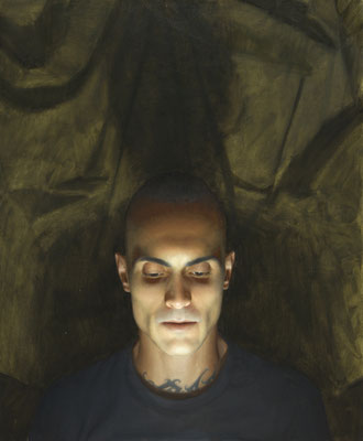 Paulo da Rocha Nunes - El observado - Óleo sobre lienzo - 61x50