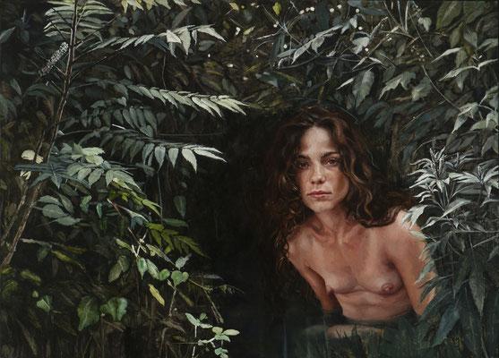 Carmen Mansilla - El jardín secreto de Gonzalo Ayarra - Óleo sobre lino - 107x77