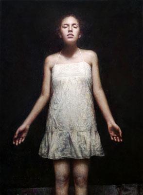 Marcos Rey - Mujer con camisón - Óleo sobre lienzo - 107x79