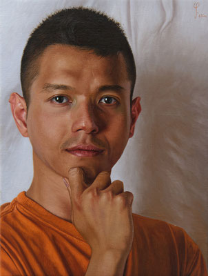 "Wim Heldens - ""Fakhri"" - Oil on canvas - 40x30"