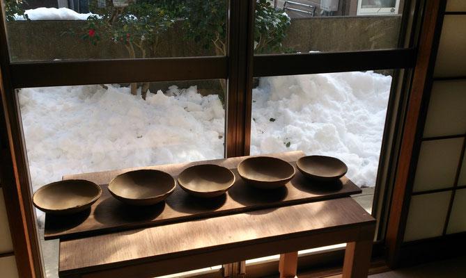 ~  型皿の試作  ~ まずは形を大事に☆彡・・・・・だなっ。 (2018.1.31) (c) Yukie Arai
