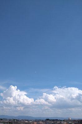 ~  残暑お見舞い申し上げます ~ 青空と入道雲  (2020.8.14) (c) Yukie Arai