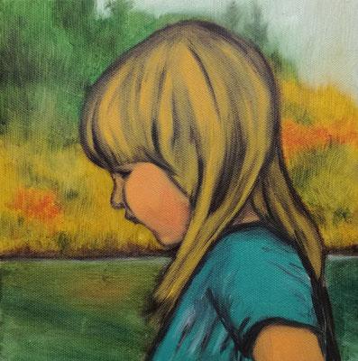 Portrait Studie 20x20 cm Öl auf Leinwand