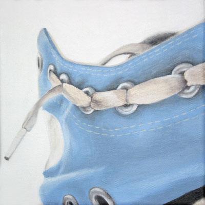 Liebe deine Schuhe! 20 x 20 cm Acryl auf Leinwand