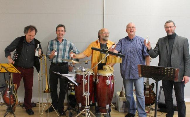 Austellung Medick mit Thomas-Piztl-Band