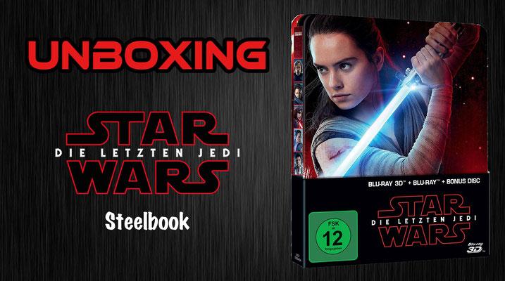 Star Wars Episode 8 - Die letzten Jedi Steelbook Unboxing