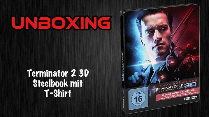 Terminator 2 3D Steelbook mit T-Shirt Unboxing