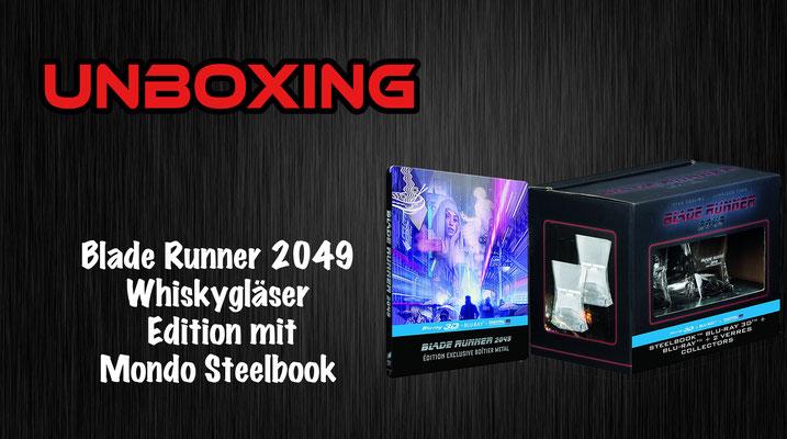 Blade Runner 2049 Mondo Steelbook mit Whiskygläser Unboxing