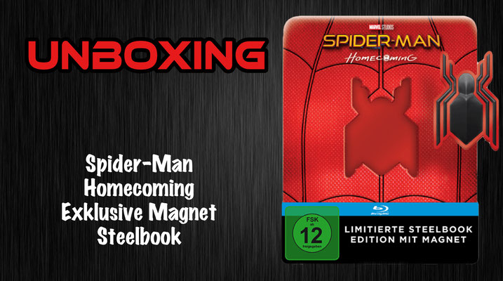 Spider-Man Homecoming Exklusive Magnet Steelbook Unboxing