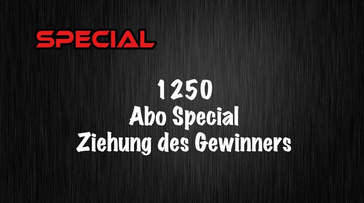 1250 Abo Special Ziehung des Gewinners