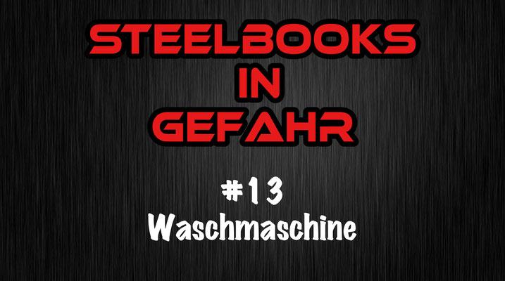 Steelbooks in Gefahr Waschmaschine