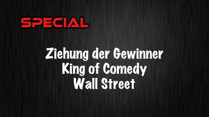 Ziehung der Gewinner King of Comedy