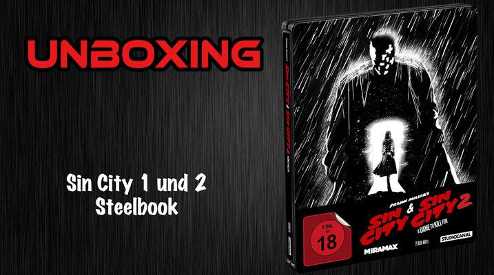 Sin City 1 und 2 Steelbook Unboxing
