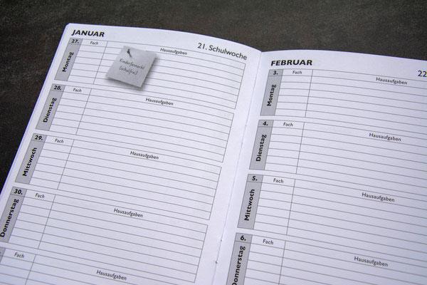 Hausaufgaben- & Kontaktheft Schule Reichenburg 2019/20