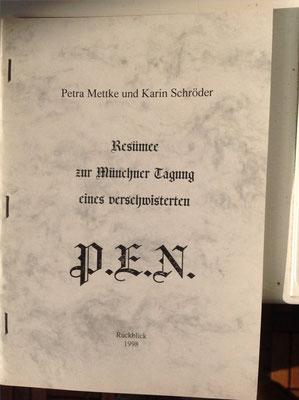 Karin Schröder, Petra Mettke/Resümee-PEN Heft 1/1998/Broschüreneinband