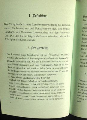 Karin Mettke-Schröder, Petra Mettke/Trademark Gigabuch/Prospekt 3/2007/Seite 2