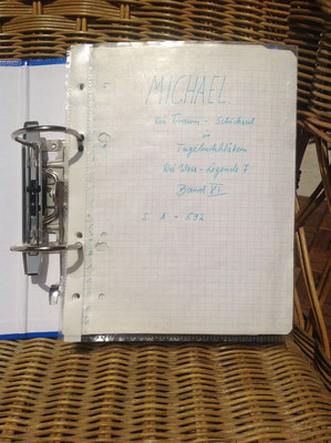 Petra Mettke/Gigabuch Michael 11/Originalordner/1995/ Deckblatt