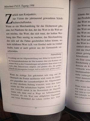 Karin Schröder, Petra Mettke/Resümee-PEN Heft 1/1998/Seite 10