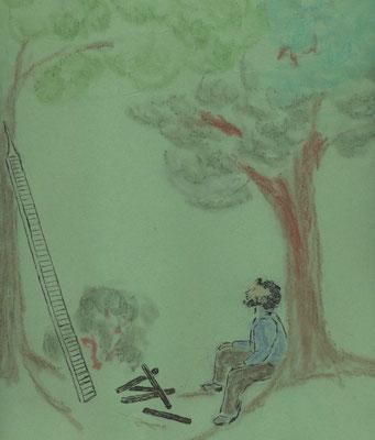 Illustration von Gabriele Vachenauer/Petra Mettke, Karin Mettke-Schröder/Das Land der flachen Hand/Drehanweisung von 1992