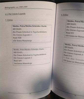 Petra Mettke, Karin Mettke-Schröder/Bibliographie first decade/2003/Seite 30
