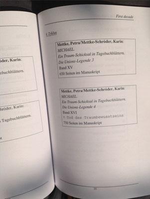 Petra Mettke, Karin Mettke-Schröder/Bibliographie first decade/2003/Seite 31