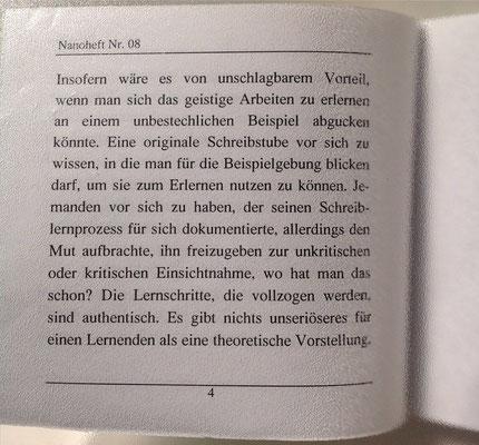 Karin Mettke-Schröder/Geistiger Besitz/Thesen zum Gigabuch Michael/Nanobook Nr. 8/2005/Seite 4