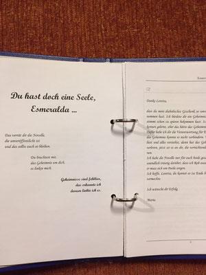Karin Mettke-Schröder/™Gigabuch Universum Band 2/Du hast doch eine Seele, Esmeralda/Novelle/Seite 4-5