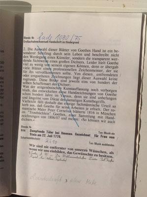 Petra Mettke, Karin Mettke-Schröder/Die Magie des Zeichners Goethe/Drehbuch/1999/Seite 3