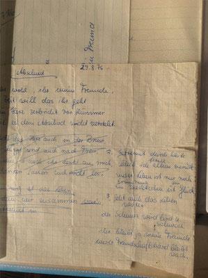 Petra Mettke/Entwurf vom 29.08.1976