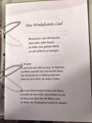 Petra Mettke/Gigabuch Winkelsstein 05/Am Rande der Unerklärlichkeit/Druckskript 2011/Winkelsstein Lied